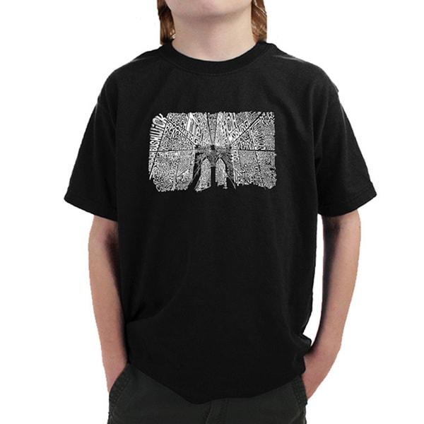 Boy's Brooklyn Bridge Cotton T-shirt
