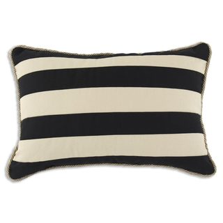 Duck Black and Tan Striped 12.5x19 Corded Throw Pillow