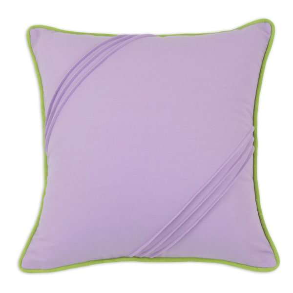 Duck Parasol Seamed 17x17 Green Corded Throw Pillow