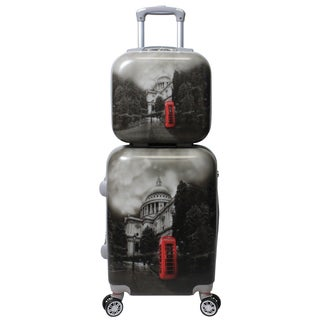World Traveler Destination Collection London 2-piece Carry-on Hardside Spinner Luggage Set