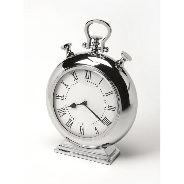 Butler Alistair Nickel Finish Desk Clock