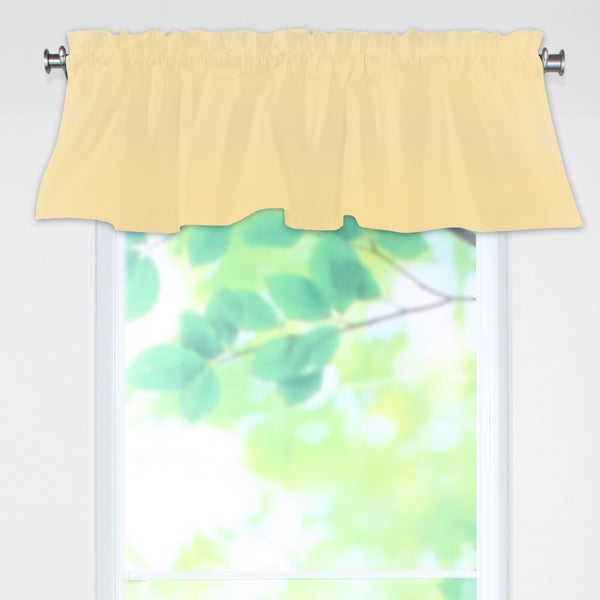 Lucky Cream 53x15 Rod Pocket Curtain Valance