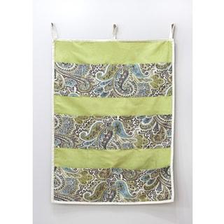 Paisley Green 9-pocket Wall Hanging