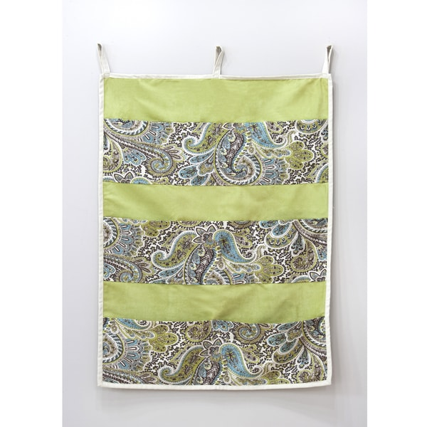 Paisley Green 9-pocket Wall Hanging
