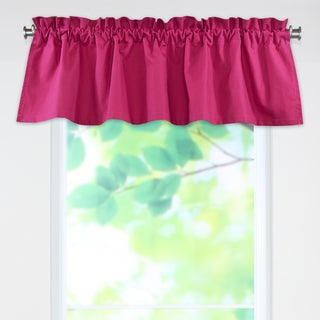 Duck French Pink 53w x 15l Rod Pocket Curtain Valance