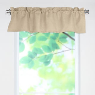 Circa Solid Barley 53x15 Rod Pocket Curtain Valance