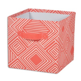 """Phase Indian Coral 11""""""""hx10.75"""""""" Storage Bin with Handle"""