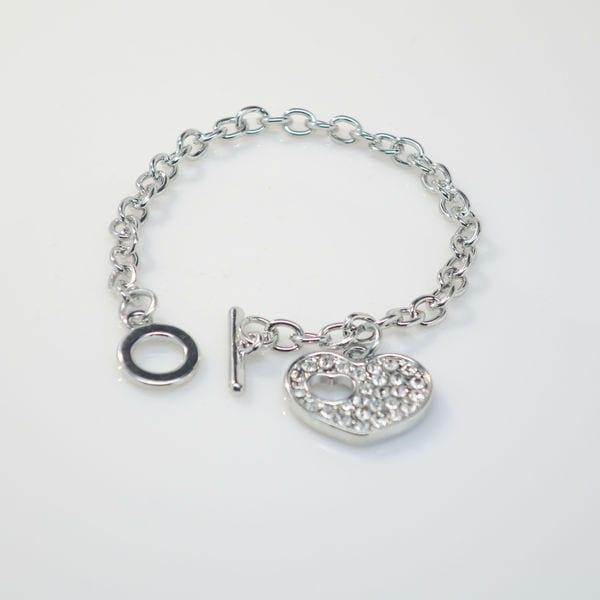 Heart Toggle Bracelet with Swarovski