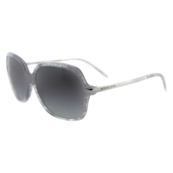 Michael Kors MK 2024 316111 Adrianna II Grey Pastel Plastic Square Sunglasses Grey Gradient Lens