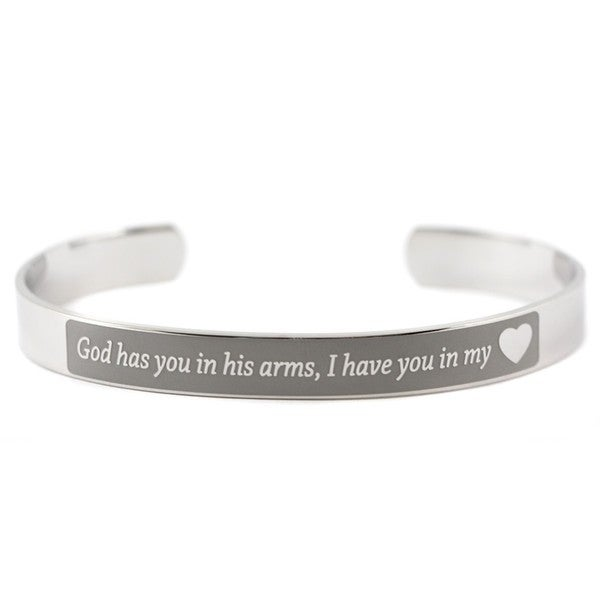 I Have You In My Heart Cuff Bracelet