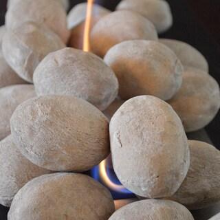 Nu-Flame Tan Sand Ceramic Fiber 25-piece Fireplace Stone