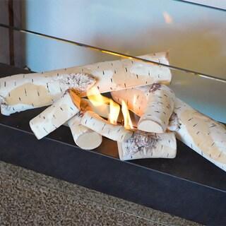 Nu-Flame White Birch Ceramic Fiber 8-piece Log Set