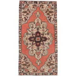 eCarpetGallery Konya Anatolian Brown/Black Cotton/Wool Hand-knotted Rug (4'1 x 8'1)