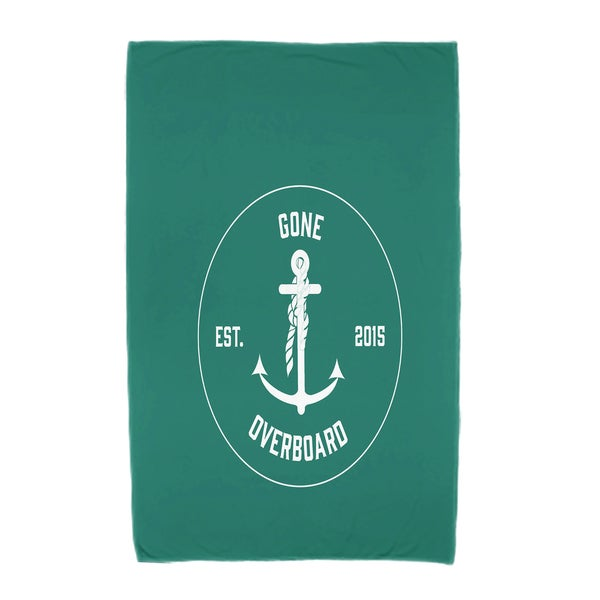 30 x 60-inch Gone Overboard Word Print Beach Towel