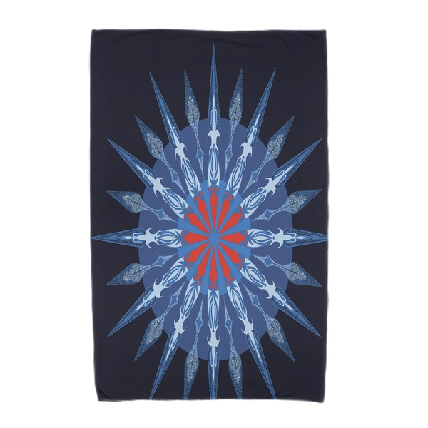 30 x 60-inch Sea Wheel Geometric Print Beach Towel