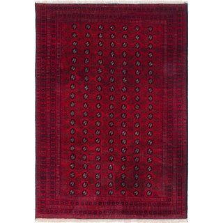 eCarpetGallery Khal Mohammadi Red Wool Hand-knotted Rug (7'1 x 10')