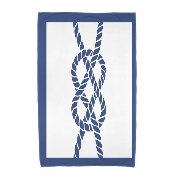 30 x 60-inch Nautical Knot Geometric Print Beach Towel