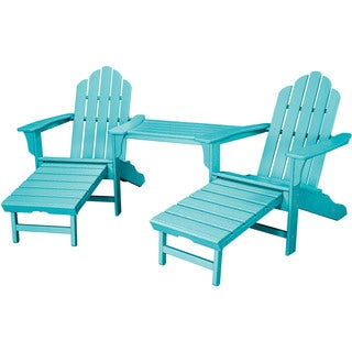 Hanover Outdoor Rio 3-piece All-weather Chat Set with Hideaway Ottoman in Aruba