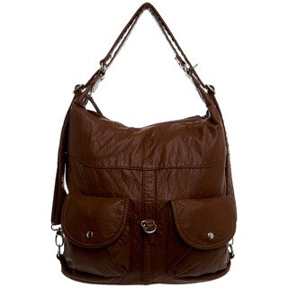 Ampere Creations Faux Leather Convertible Shoulder Bag/Backpack