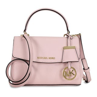 Michael Kors Ava Blossom Pink Leather Mini Crossbody Handbag