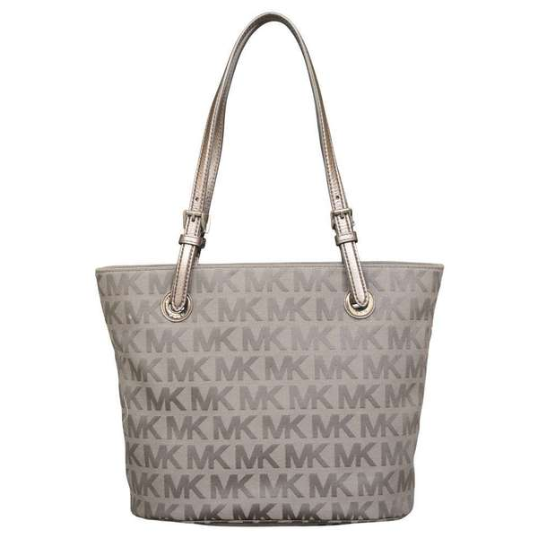 Michael Kors Jet Set Item Ice/ Slate/ Gunmetal Tote Bag
