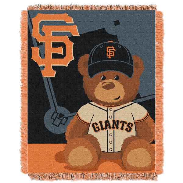 MLB 044 SF Giants Field Bear Baby Throw 19333999