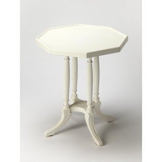 Butler Adolphus Cottage White Wood Octagonal Accent Table