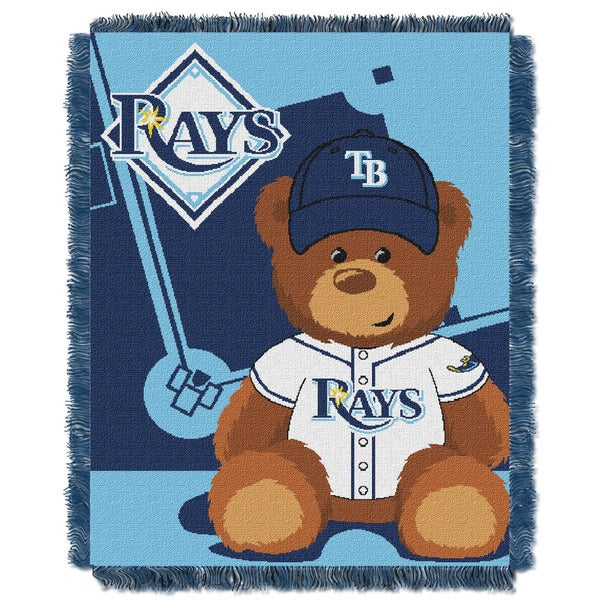 MLB 044 Rays Field Bear Baby Throw 19334022