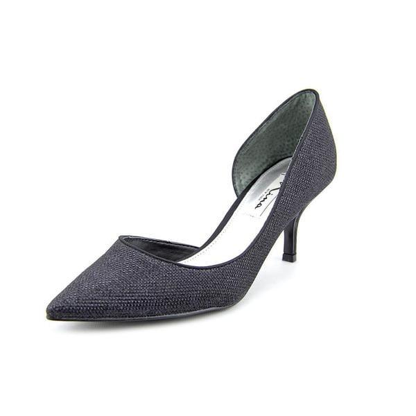 Nina Women's Brydie Black Fabric Dress Shoes