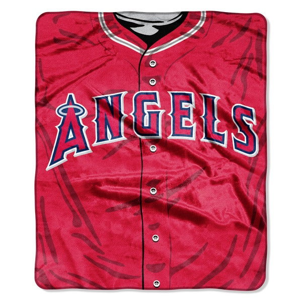 MLB 0705 Angels Jersey Raschel Throw