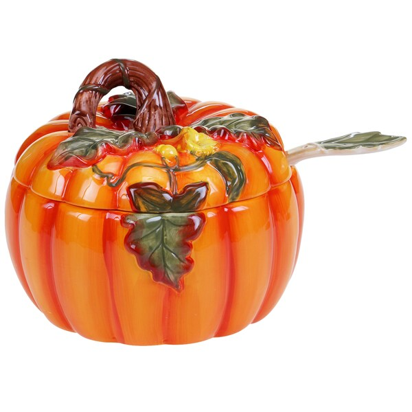 Certified International Botanical Harvest 3D 3-quart Soup Tureen With Ladle