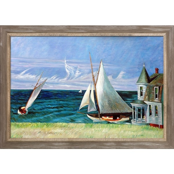 Edward Hopper 'The Lee Shore' 1941 Hand Painted Framed Canvas Art