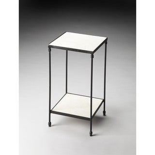 Butler Larkin Black/White Marble and Iron Accent Table