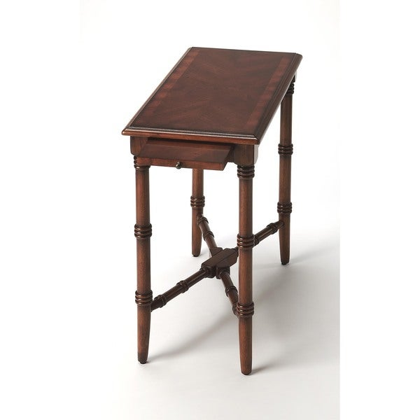Butler Skilling 3531011 Antique Cherry MDF Wood 12-inch x 24-inch x 24-inch Chairside Table 19335242