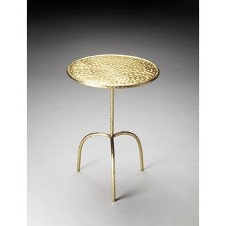 Butler Founders Brass-finish Pedestal Table