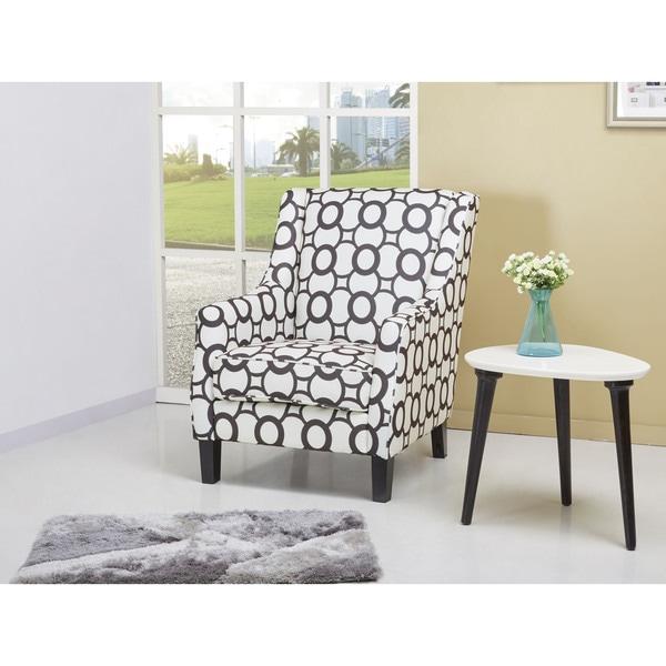 Olympia Circular Print High Back Club Chair