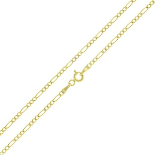 10k Gold 2mm Hollow Figaro Link Chain