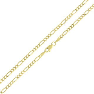 10k Gold 2.5mm Hollow Figaro Link Chain