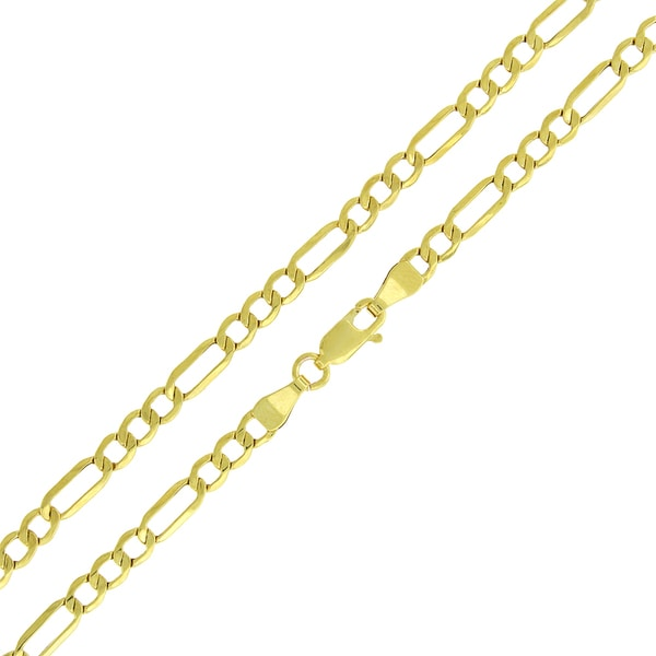 10k Gold 4mm Hollow Figaro Link Chain