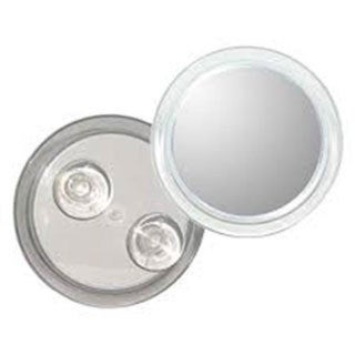 5x Magnification Anti-fog Suction Mirror with Unbreakable Lens Plus Free 3-in-1 Compact Mirror 19335744