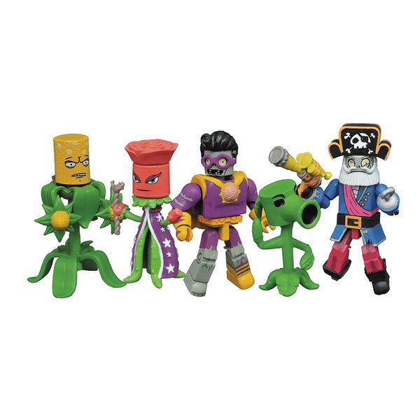 Diamond Select Toys Plants vs. Zombies: Garden Warfare 2 Minimates Multicolor Plastic Box Set 19335921