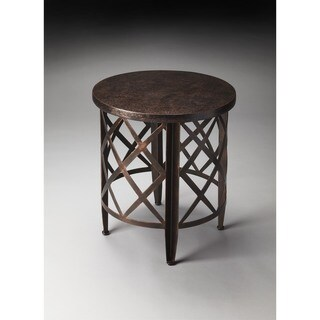 Butler Brown Iron End Table