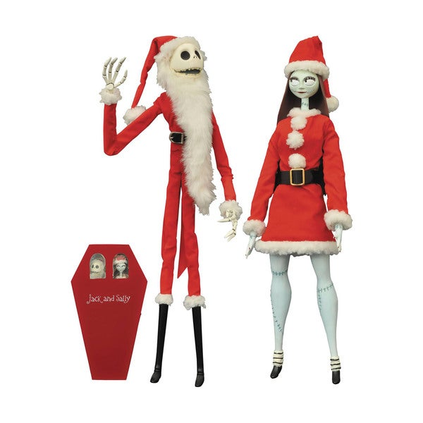 Diamond Select Toys Nightmare Before Christmas Santa Jack & Sally Coffin Limited Edition Set 19335997