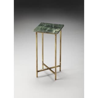 Green/Brown Iron and Marble Butler Scatter Table