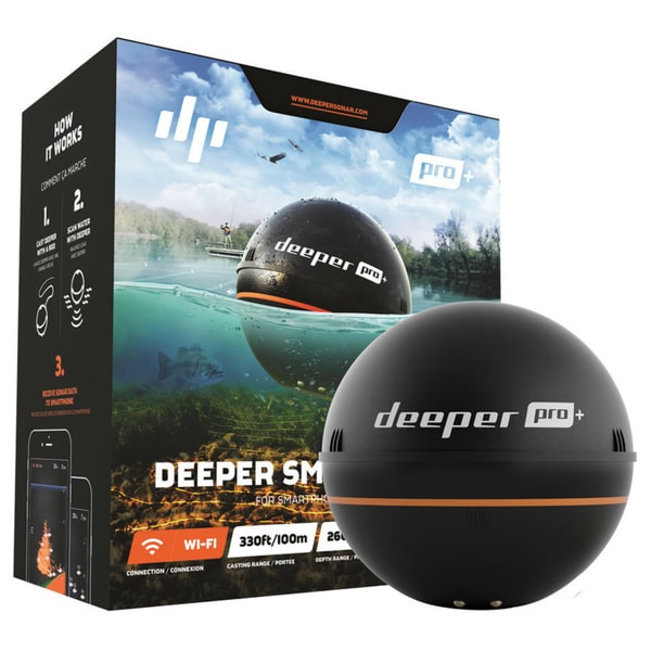Deeper Smart Sonar PRO+ WI-FI + GPS FLDP13 Black ABS Echo Sounder