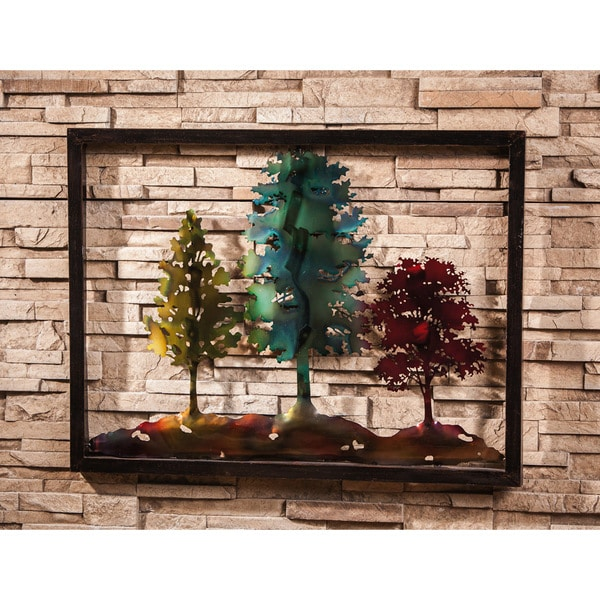 3 Trees Metal Wall Decor