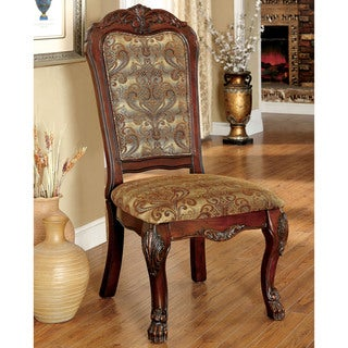 Furniture of America Elantia Traditional Cherry Side Chair (Set of 2)