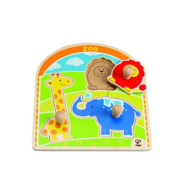 Hape 'At the Zoo' Knob Puzzle