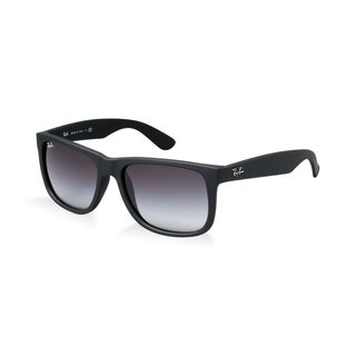 Ray Ban RB4165 Justin Sunglasses - 601/8G Rubber Black (Gray Gradient Lens) - 55MM