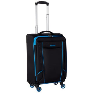 American Tourister by Samsonite Skylite Black/Blue 20-inch Carry On Spinner Upright Suitcase